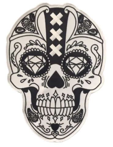 biker patch back emblems backpatch colors colours rocker siderockers rockers custom-made skull amsterdam