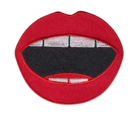 patchesbadges badge- ibadge pro-merchandise-buying custom-made mouth red-lips